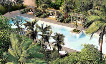 Διαμόρφωση του χώρου πισίνας και κήπου σε Ξενοδοχείο