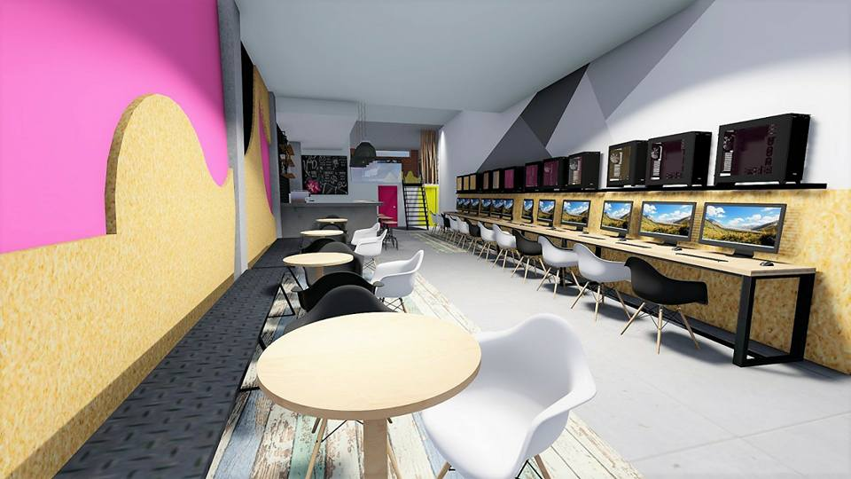internet cafe, lounge cafe, playroom diakosmisi, sxediasmos, anakainisi