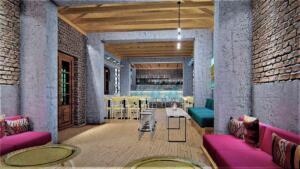 Διακόσμηση Cafe Bar  με  boho style